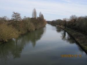 Looking along the Cut towards Walton