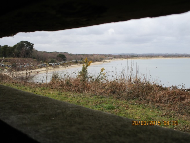 View of Studland Bay from Fort Henry WW2